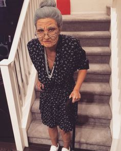 Old lady Halloween costume                                                                                                                                                                                 More (Halloween Costumes 2017)