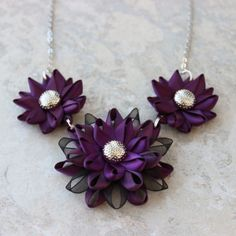 Hey, I found this really awesome Etsy listing at https://www.etsy.com/listing/202619317/deep-purple-necklace-dark-purple