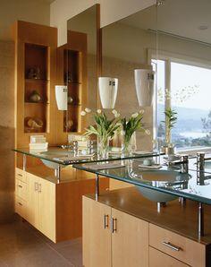 Glass Double Sink/Vanity