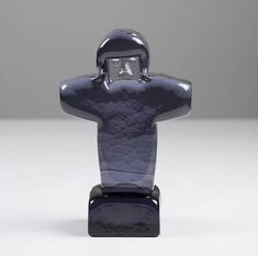 Rare Erik Höglund Glass Sculpture Kosta Boda Sweden Vintage Blue Glass Figurine Swedish Studio Glass Scandinavian Glass Art Collectables
