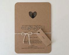 PRINTABLE ARTWORK Kraft Paper Engagement by MintConfetti on Etsy, $40.00