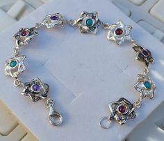Star Of David Silver Bracelet  Sterling Silver 925 by TalyaDesign