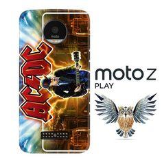 acdc logo wallpaper Y1485 Motorola Moto Z Play Case