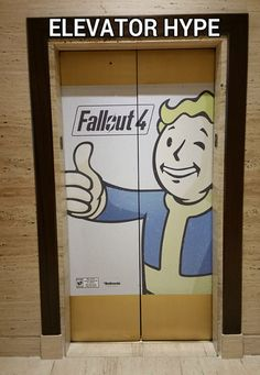 #Fallout4 elvevator hype  fallout 4 twitter addicted