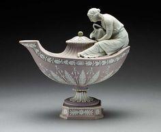 Wedgewood, lilac jasperware, Vestal Oil Lamp ca 1800-1820 | LACMA Collections