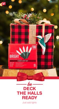 Run out of lights halfway to merry and bright? Pick up more at your local Walgreens!