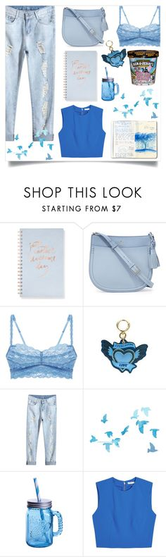 """""""Just another awesome day"""" by alongcametwiggy ❤ liked on Polyvore featuring Cotton Candy, Fringe, Kate Spade, Cosabella, Burberry, Fitz & Floyd and Alice + Olivia"""