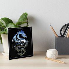 Silver Dragon, Canvas Prints, Art Prints, Dragon Art, Photographic Prints, Art Boards, Black Backgrounds, Metallic, My Arts