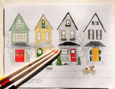 Coloring Pages For Adults Homes : Sweet shop adult coloring page candy store bake shop printable