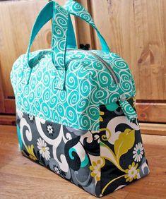 Sewing Pattern Weekender Overnight Travel Bag by SusieDDesigns