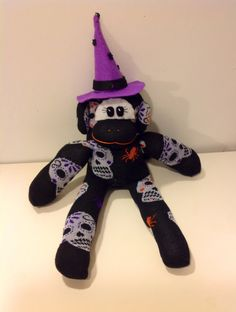 Witch Sock Monkey by MaidenLongIsland on Etsy