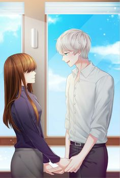 Anime Couples Drawings, Cute Anime Couples, Unknown Album, Mystic Messenger Unknown, Mystic Messenger Characters, Saeran Choi, Love Cartoon Couple, Desenhos Gravity Falls, Bojack Horseman