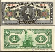billete de 1 colon costa rica - Buscar con Google anverso,,José Rafael Gallegos y Alvarado,, reverso,,, Hermes, mitología Griega, 1917.