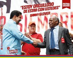Danni Glover, actor afroamericano estadounidense. #HugoChávez #Venezuela #PatriaGrande #Latinoamérica #AméricaLatina #AméricaLatinayelCaribe #Iberoamérica #Sudamerica #RevoluciónBolivariana #RevoluciónSanMartiniana  // #Frases #Citas