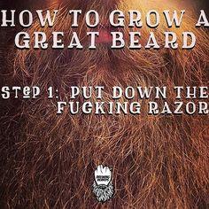 """☕ Beard motivation ~~ Step 2: repeat Step 1 ~~ Visit BrewingBeards.com #BrewingBeards #uygp #BrewingBeardsmen #beard #beardgang #beards #bearded…"""