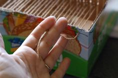 Cardboard Box Looms: DIY Weaving at it's finest!Craft Leftovers | Craft Leftovers