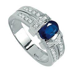 Bague femme diamants Saphir, or jaune, 18 carats, 6 grammes, 22 Diamants 0.22 carat, 1 Saphir 0.85 carat. http://www.princessediamants.com/article-bague-or-blanc-diamants-saphir-1066.htm
