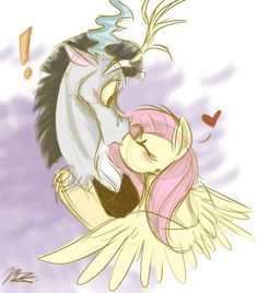 Beauty And The Beast by Lilac-the-fox99 on deviantART (oooooh! I love, love, love fluttercord!!)