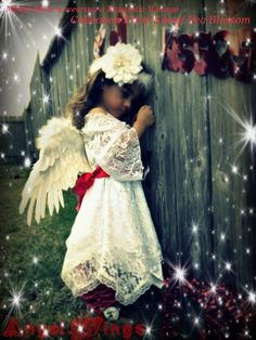 Custom Boutique  Girls  Angel Wings Dress by SweetPeaBlossoms, $39.99