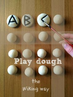 the bushcrafter: ABC play dough letters the Wiking way. Inspired by scandinavian runes.