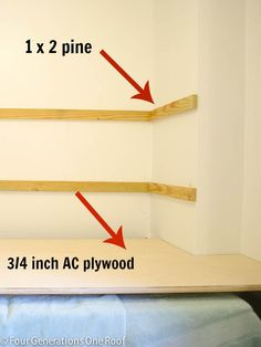 diy floating shelves >>> just did this today in both downstairs bathrooms - easy peasy!