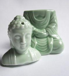 Aromabrander  - Boeddha - Jade