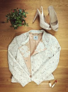 The lace jacket Lace Jacket, Floral Lace, Sequins, Simple, Jackets, Etsy, Beautiful, Floral Tie, Down Jackets