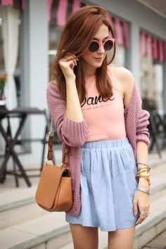 Ballet body baby pink and cute blue skirt!