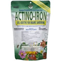 Actino-Iron Fungicide 3 lbs by Natural Industries. $25.67. Add to Soil, Mulch, or Compost or Add a Tsp. to Each Transplant. Organic Biological Fungicide With Iron & Humic Acid. Protects Roots From Disease Causing Fungi. For use on veggies, herbs, annuals, perennials, trees & shrubs. 9 ounces treats up to 3 cubic feet of soil or 50 plants. Actino-Iron is a biological fungicide used to supress root diseases. This supplement contains the patented microorganism, Streptomyces ...