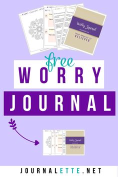 Worrying all the time? Get this free worry journal to help alleviate stress and worry less. Journaling is one of the most powerful self-care tools you can use to help you relax and stop worrying. Bullet Journal How To Start A, Bullet Journal Books, Stop Worrying, Journal Prompts, Journal Ideas, Motivation Goals, Self Care Activities, Coping Skills, Word Porn