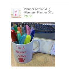 It makes my day seeing pictures of my products in use and the planner addict mug is one of my favourites as I'm such a planner nerd and proud of it 😜