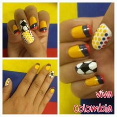Uñas Colombia Emma Love, Simple Art, Pedicure, Nail Art Designs, My Nails, Beauty, Patriots, Chic, Block Prints