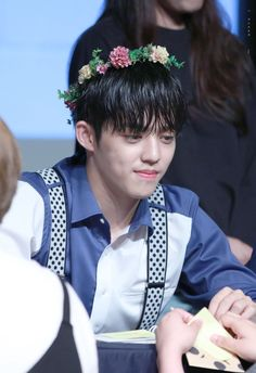 Seventeen || S. Coups - He looks so cute in a flower crown!!!! #Seventeen #S. Coups