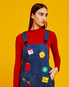 Don't Hug Me I'm Scared for Lazy Oaf Dungaree Dress - DHMIS for Lazy Oaf - Collections - Womens