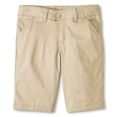 French Toast Girls' Bermuda Short Khaki (Green) 6X, Girl's