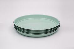 Set of three Enamel salad plates - Rockpool Blue
