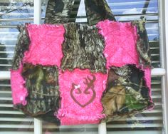 Bright pink & mossy oak camo with Browning boy and girl