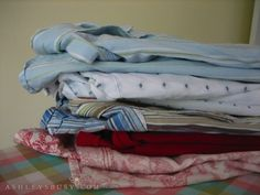 Pillowcases from button up shirts!