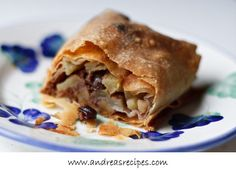 May 2009: apple strudel (filo dough)