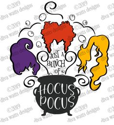 SVG  It's Just A Bunch of Hocus Pocus  Witches  Witch  image 4 Hocus Pocus Witches, Halloween Rocks, Silhouette Png, How To Make Stencils, Witch Art, Vinyl Cutting, Silhouette Cameo Projects, Cricut Creations, Halloween Phrases
