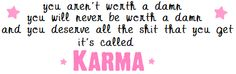 Karma Quotes For Bad People   Inspirational Sayings Quotes Karma Peace - kootation.com