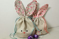I'm back.... with a wee bunny pouch tutorial for you