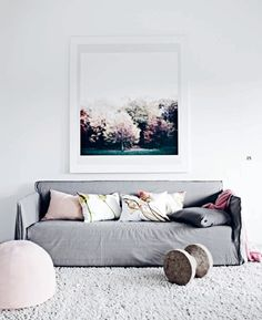 beautiful for a first apartment minimalist feminine living room
