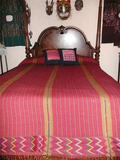 King sized bedspread made in Zacualpa, Guatemala.