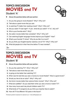 Movies and Television, English, Learning English, Vocabulary, ESL, English Phrases, http://www.allthingstopics.com/movies-and-television.html