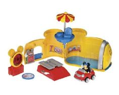 Fisher-Price Mickey's World Deluxe Playset Assortment by Fisher-Price. $19.99. Mystery Disc. Toodles Tool Box. Working Car Lift. Mickey's Car. Poseable Micky Figure. From the Manufacturer                Mickey's Garage
