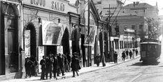 Cine Bijou Theatre, primeiro cinema de São Paulo, na rua São João, início do século 20.