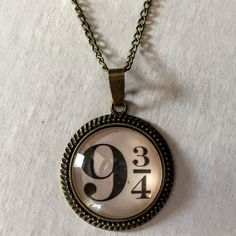 Harry Potter 9 3/4 Necklace #9-3/4 #book-lover #bookish