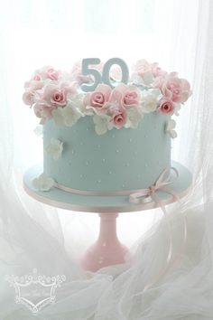 50th Birthday Cake | 50th birthday cake order. Rose and hydr… | Flickr