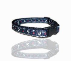 Nautical Anchor Sailor Dog Collar